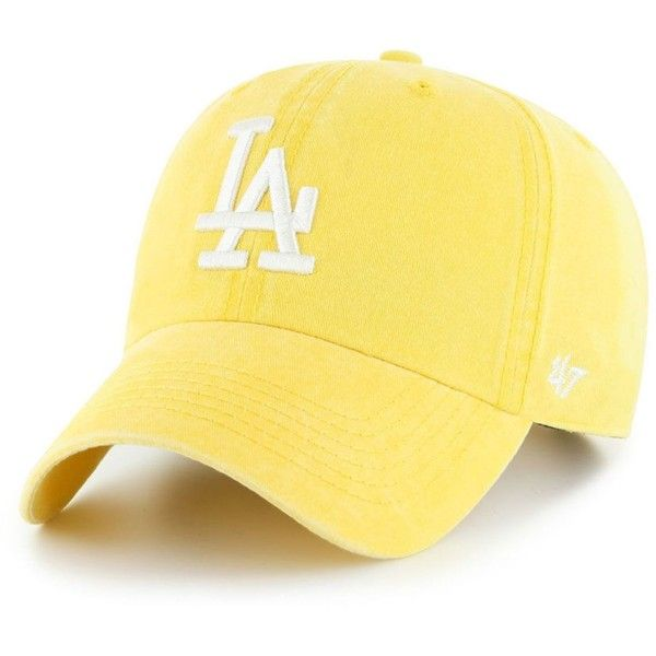 01897645a99  47 Brand Los Angeles Dodgers Summerland Clean Up Cap ( 28) ❤ liked on  Polyvore featuring accessories