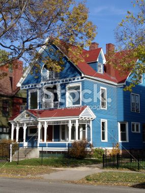Best Blue House With Red Roof Red Roof House 400 x 300