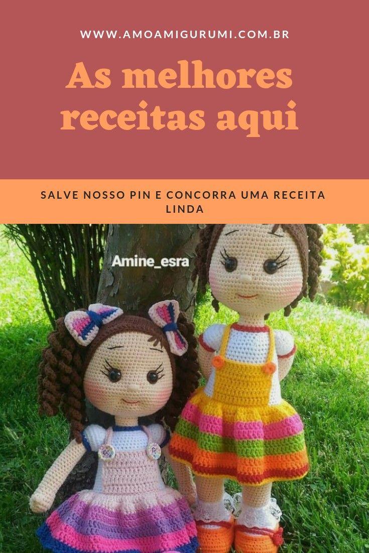 Boneca Emília Amigurumi no Elo7 | Bambolê Arte Crochê (C13C75) | 1102x735