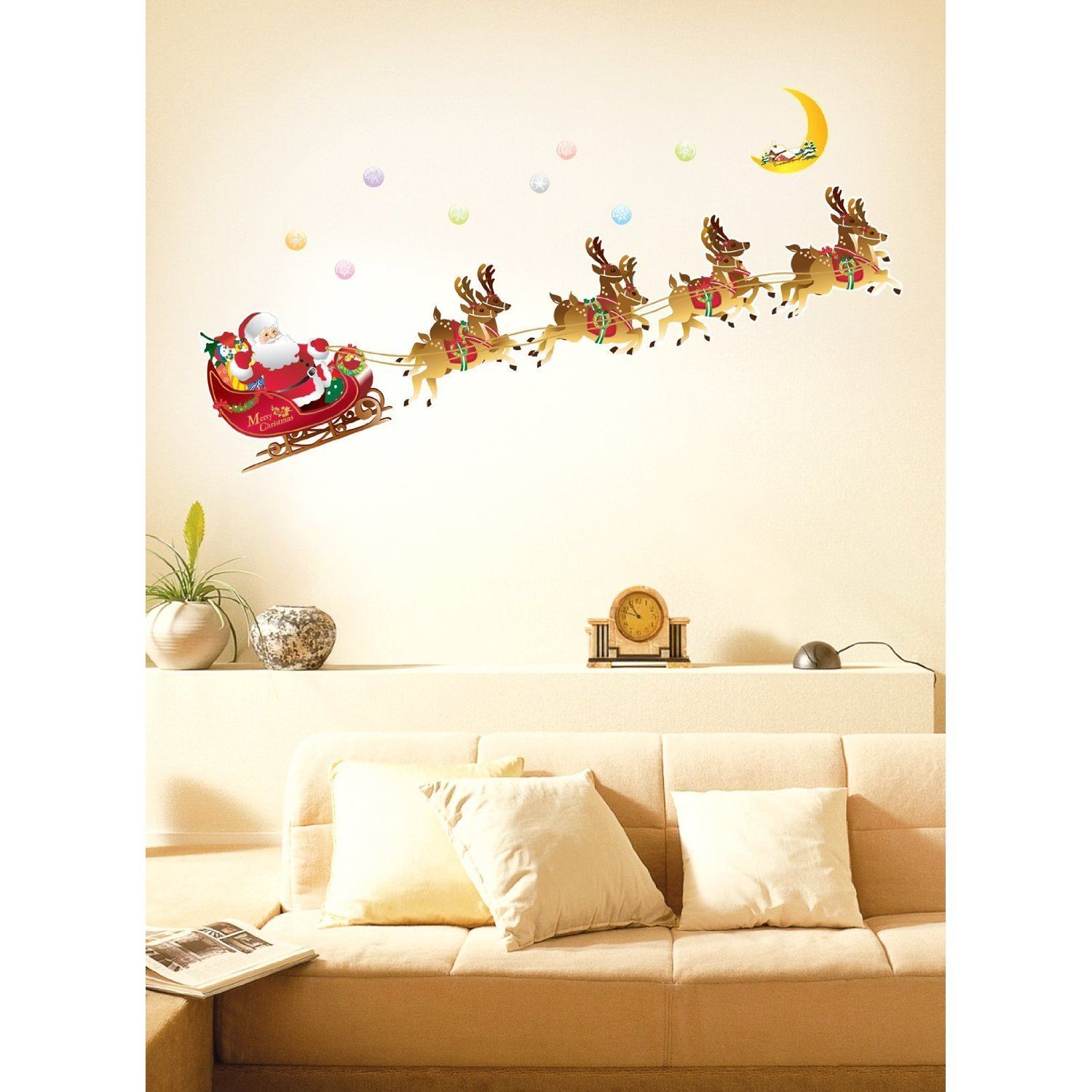 Christmas special dcor ideas for your home christmas wall christmas special dcor ideas for your home wall decoration stickerswall amipublicfo Gallery
