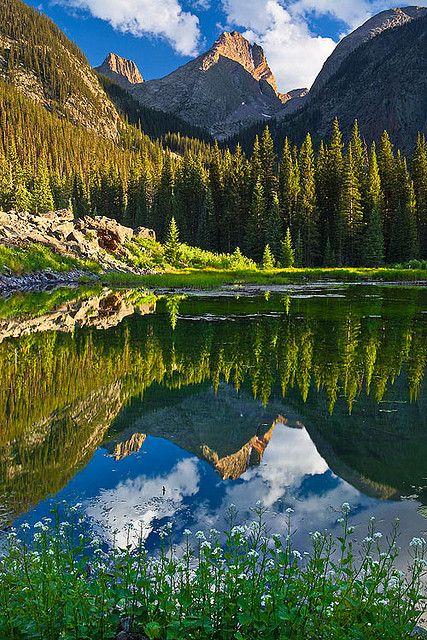 Cabin View ~~Vestal Peak Reflection ~ Weminuche Wilderness of the San Juan Mountains near Silverton, Colorado by Guy Schmickle~~