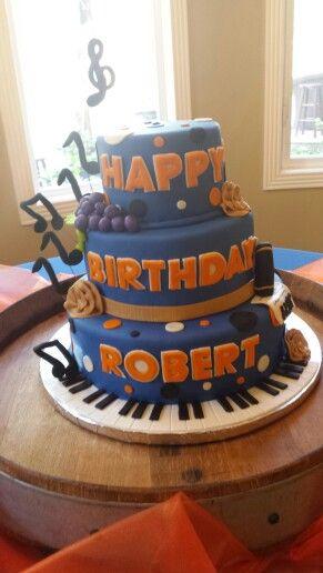 Jazz inspired cake | Birthday Cakes | Cake, Birthday Cake, Custom ...