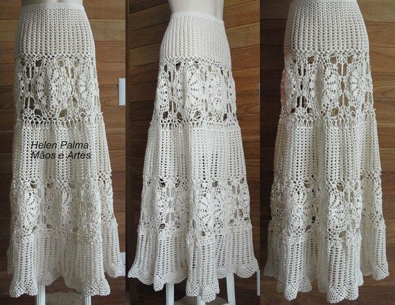 Crocheted Lace Long Skirt Crochet Crochet Lace Crochet Y