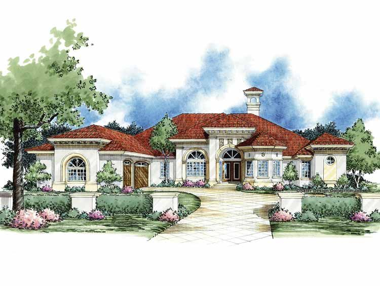 Mediterranean Style House Plan 5 Beds 3 5 Baths 3993 Sq Ft Plan 930 61 Mediterranean Style House Plans House Plans Dream House Plans