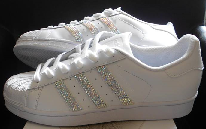 adidas superstar white sparkle