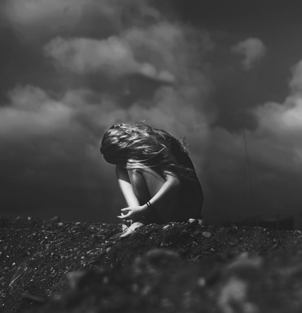 Black and white depression photography