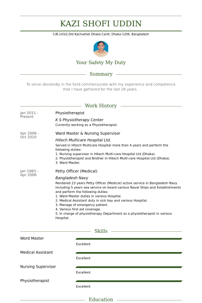 Physiotherapist Resume Example Resume Examples Physiotherapist Resume