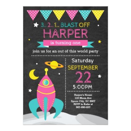 Outer Space Birthday Invitation Rsvp and Invitation ideas - invitation to a party