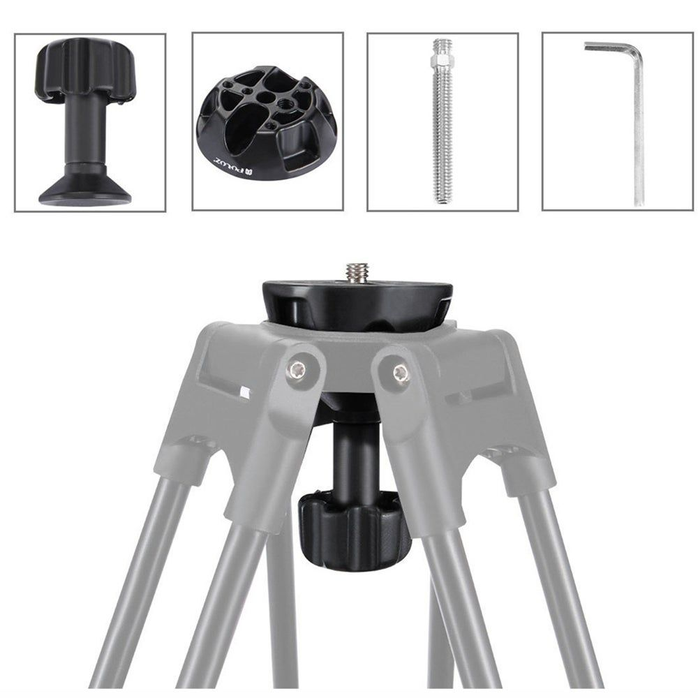 75mm Half Ball Flat To Bowl Adapter For Fluid Head Tripod DSLR Rig Camera And Metal Material