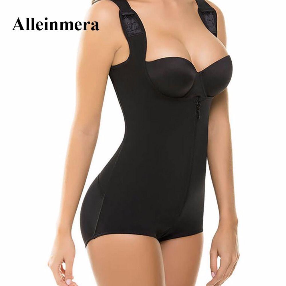 66859de5c Aliexpress.com   Buy S 3XL Zip up Tummy Control Slimming bodysuit body  shaper Waist
