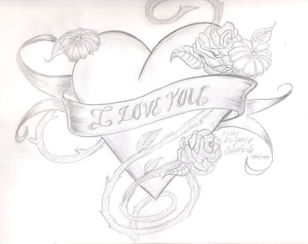 Roseshearti Love U Drawing