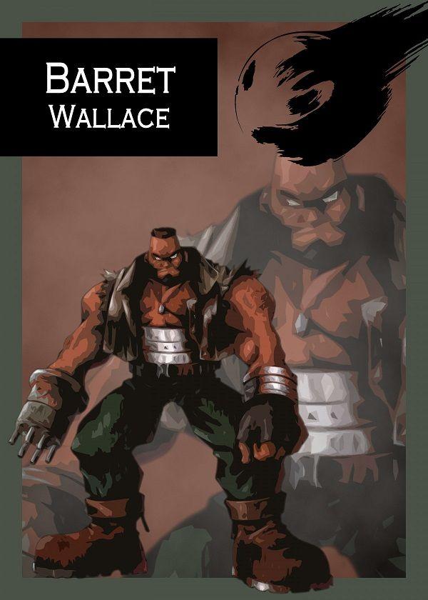 "Final Fantasy VII Characters Barret Wallace #Displate explore Pinterest""> #Displate artwork by artist ""Gemini-Phoenix"".…   Displate thumbnail"