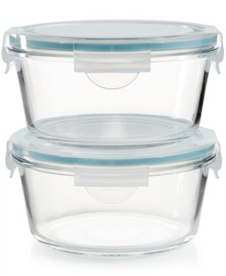 Martha Stewart Collection 4 Pc Glass Food Storage Container Set