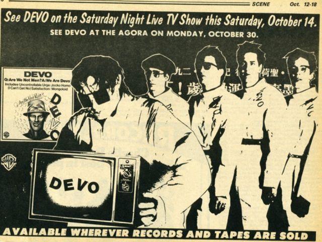 Vintage #devo Ad #snl