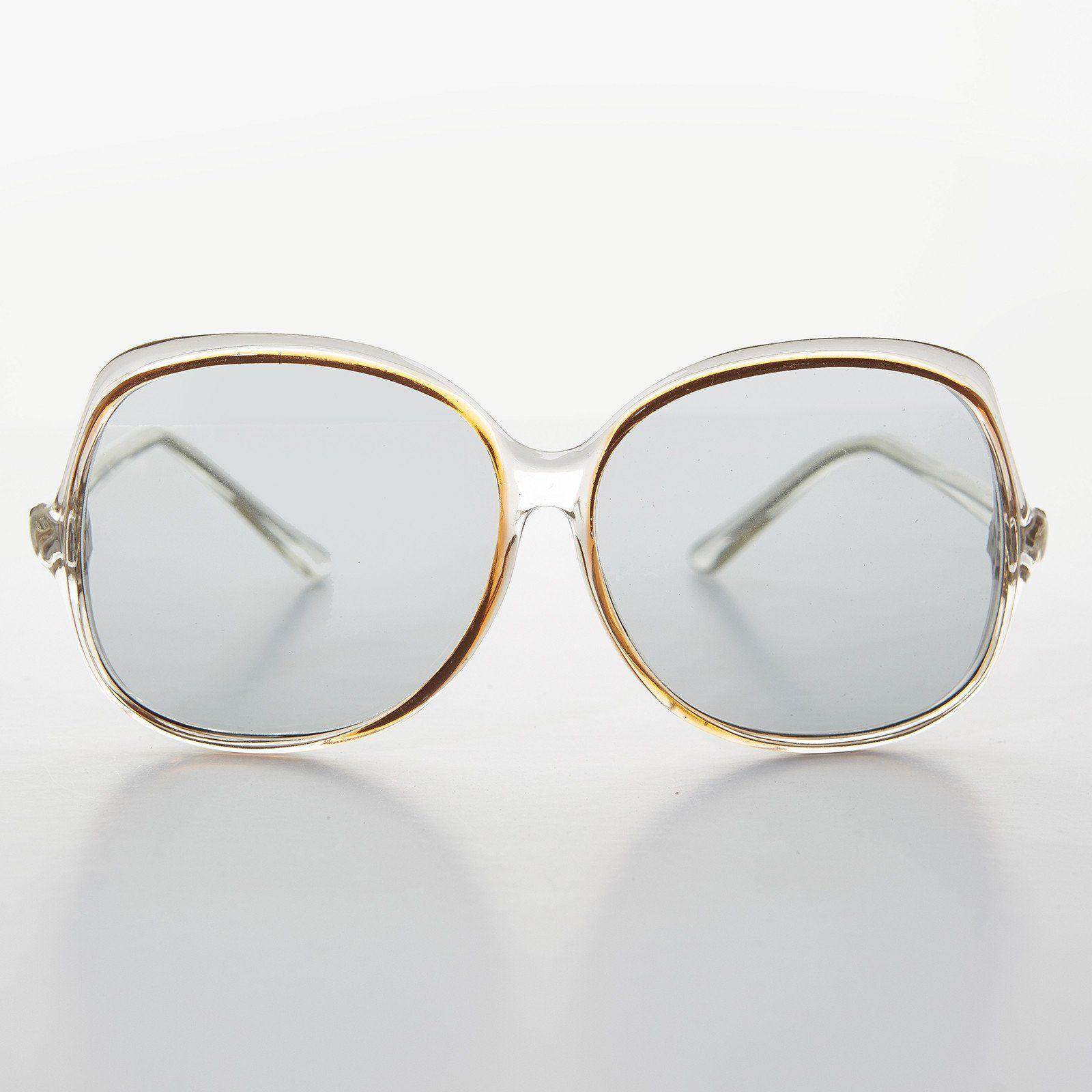 7afdba42c6 Jackie O Bohemian Oversized Vintage Sunglass with Transition Lens - Olivia