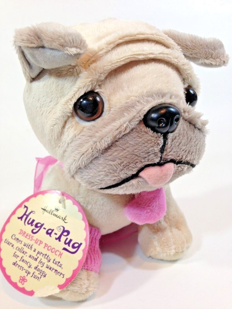 Hallmark Hug A Pug Dress Up Pooch Plush Dog Stuffed Pup W