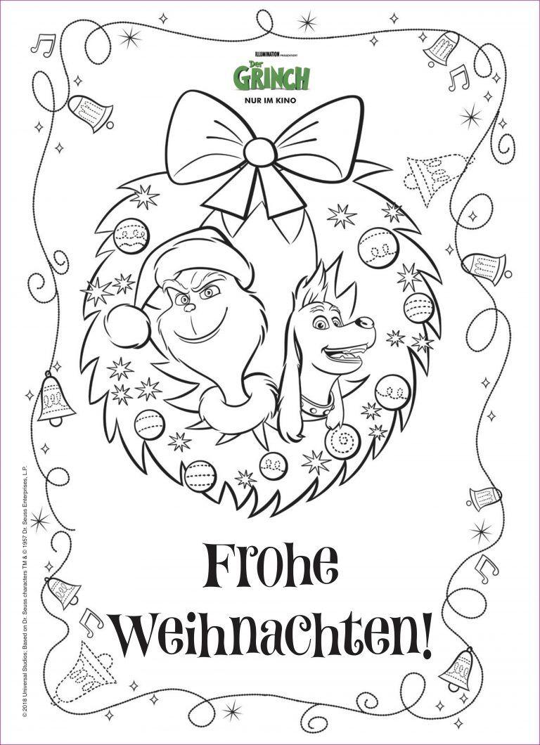 Grinch Malvorlage Einhorn Grinch Arbeitsblatter Kindergarten