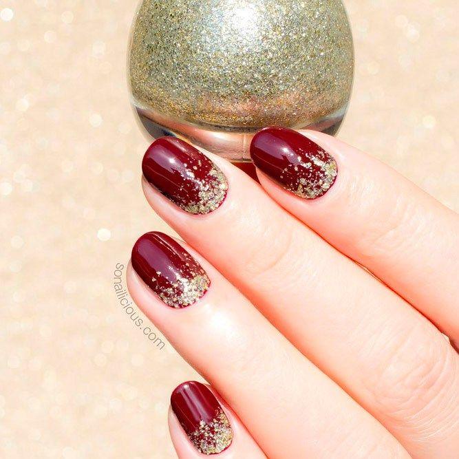 Burgundy Nail Varnish Gel Polish Nail Decoration 2018 Nails