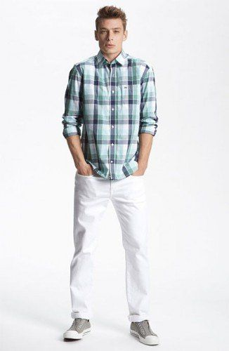 06f6f17308 calca branca masculina com camisa xadrez