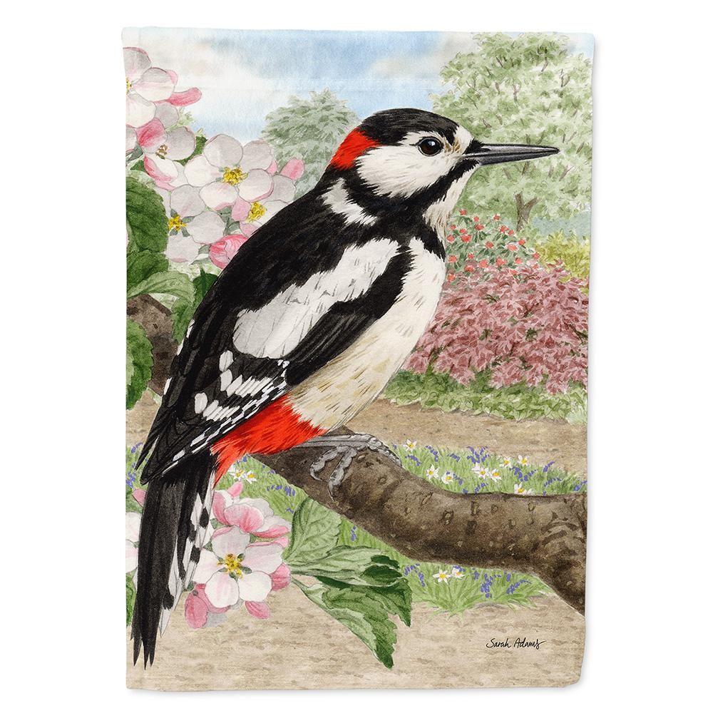Caroline S Treasures 11 In X 15 1 2 In Polyester Woodpecker 2 Sided 2 Ply Garden Flag Asa2018gf The Home Depot In 2021 Woodpecker Artwork Painting Prints Woodpecker