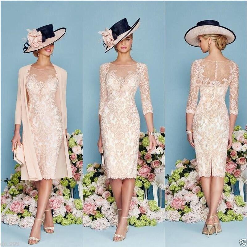 Plus Size Blush Knee Length Mother of Bride Suit Jacket Wedding ...