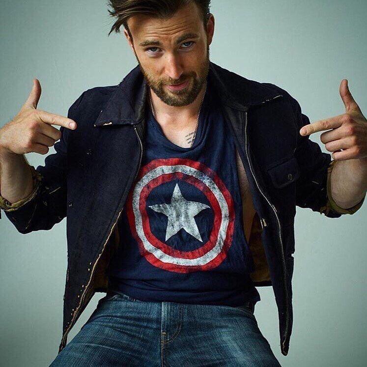 Chris Evans  Captain America T-Shirt  Style  Pinterest -9453
