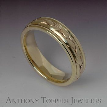 Anthony Toepfer Jewelers - 14K Yellow Gold Wedding Band with 3 ...