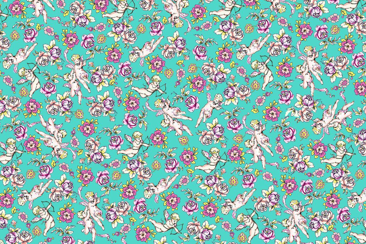 Anallop Disseny Un sueño en blanco, rosa y azul de flores y ángeles cupido, músicos que disparan directo al corazón. Preludio de primavera fresca en jardines soleados. Despertares y abrazos viendo pasar las nubes, dejando el tiempo pasar. Un diseño juvenil para ropa de baño de mujer.  Síguenos en facebook para más novedades:https://www.facebook.com/SwimwearFabricsAnnaLlopDisseny?ref=hl