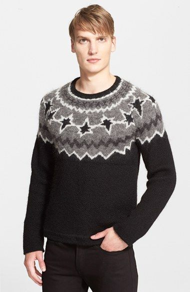 Neil Barrett Intarsia Knit Fair Isle Sweater available at ...