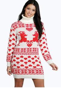 Kersttrui Jurk.Kersttrui Als Jurk Kersttrui Christmas Jumper Dress Reindeer