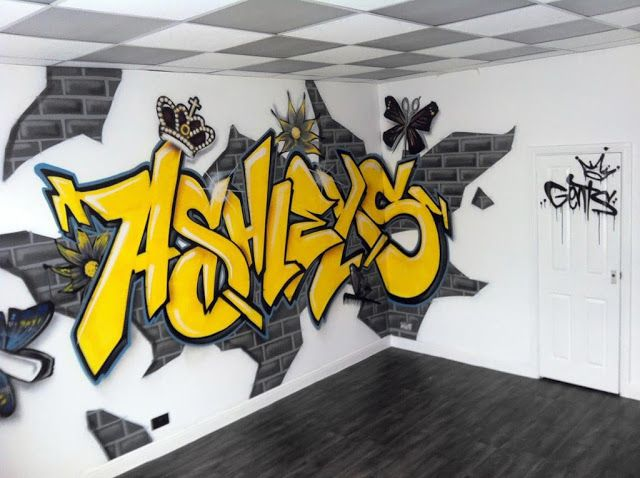 The World Of Amazing Art Collection Amazing 3d Graffiti Art Wallpapers Graffiti Wall Art Graffiti Bedroom Graffiti Wall