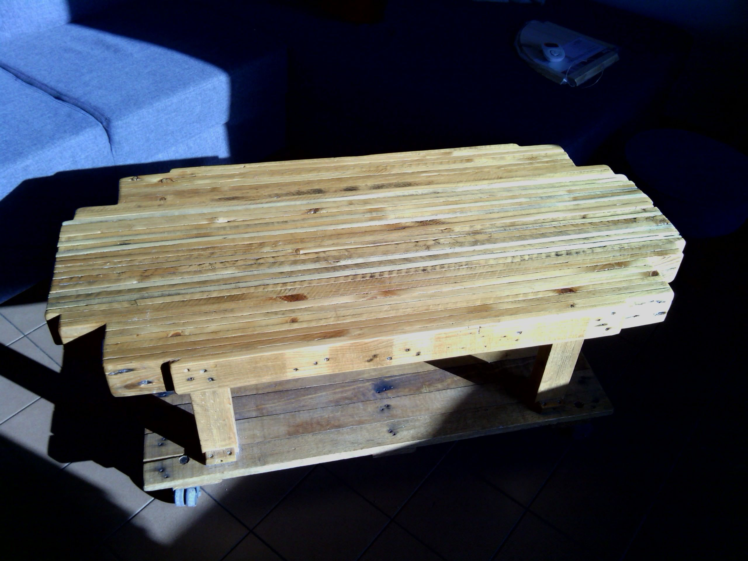 "Pallet ""butcher's block"" coffee table #PalletCoffeeTable"