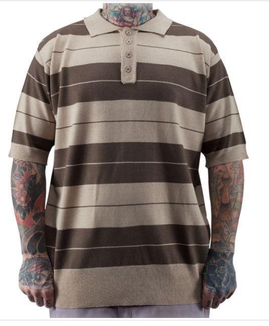 76bc10efd CHARLIE BROWN MENS POLO SHIRT BROWN/TAN LOWRIDER BRAND CLOTHING #Lowrider # Polo