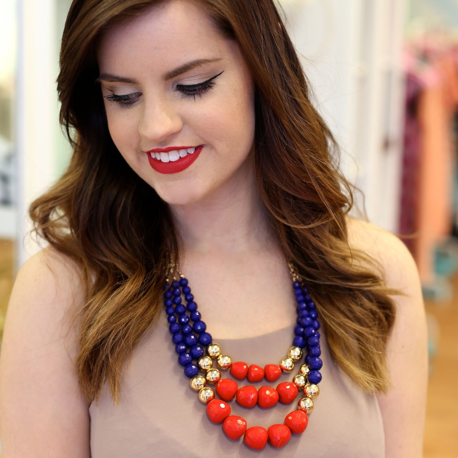 Red Clementine Necklace - BlueGreenAqua boutique