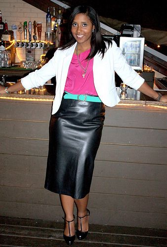 IMG_0123 My tight leather pencil skirt | More Leather fashion and ...