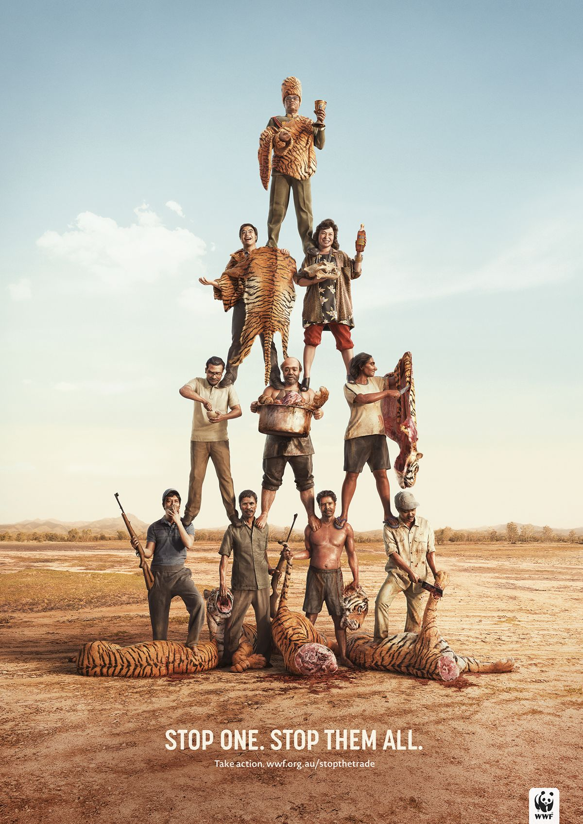 WWF Poachers Campaign on Behance Wwf tiger, Print ads, Wwf