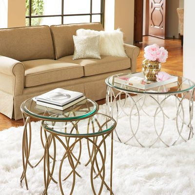 Elana Bronze Iron Round Nesting Tables In 2020 Coffee Table