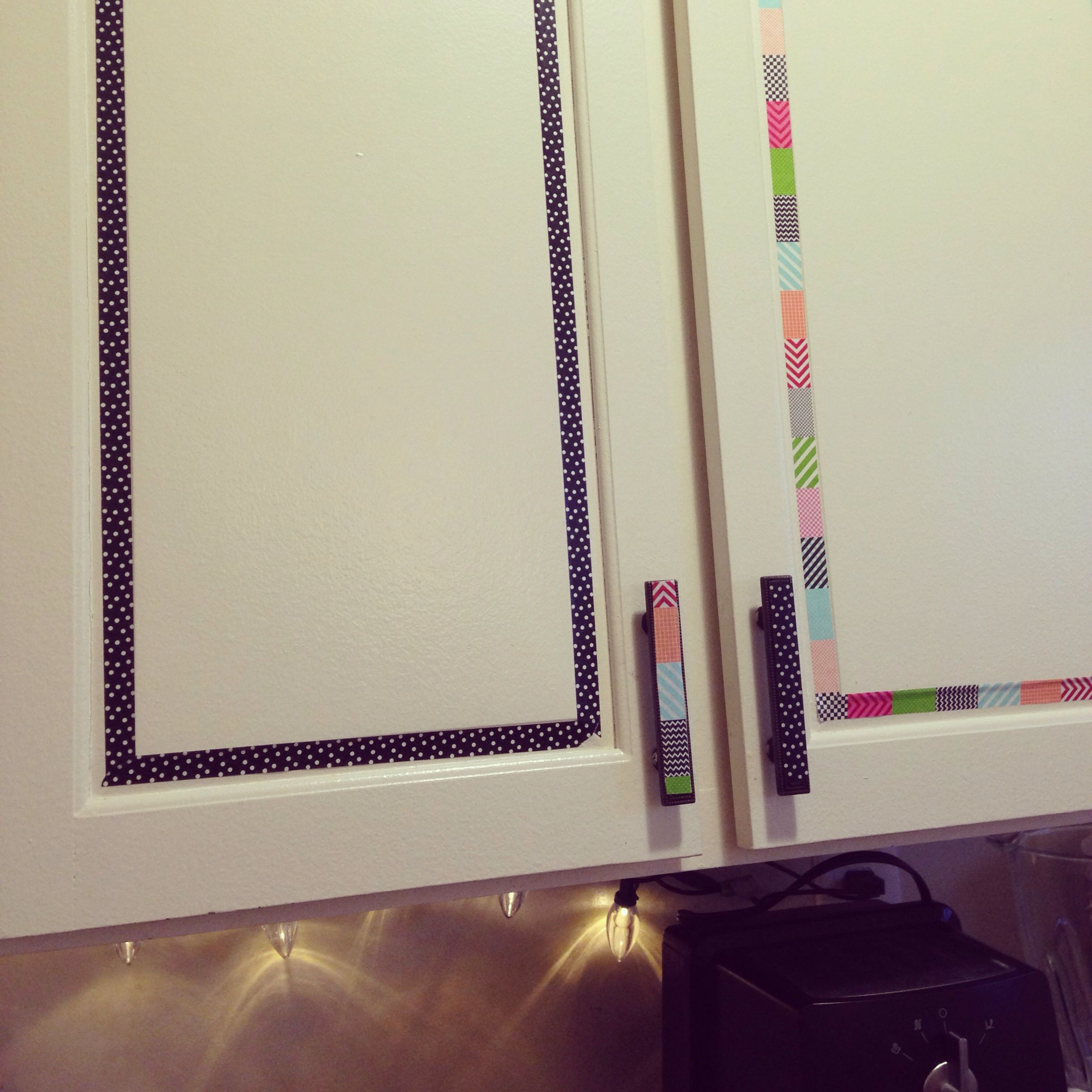 Washi Tape Kitchen Cabinets Cheap And Easy Rental Diy