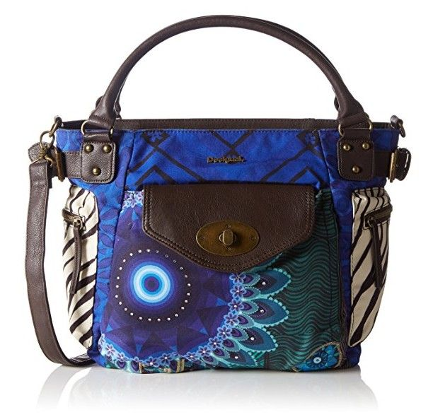 Desigual Tasche Modell Fun Zebra Muster Geometrisch Und Mandala Blau