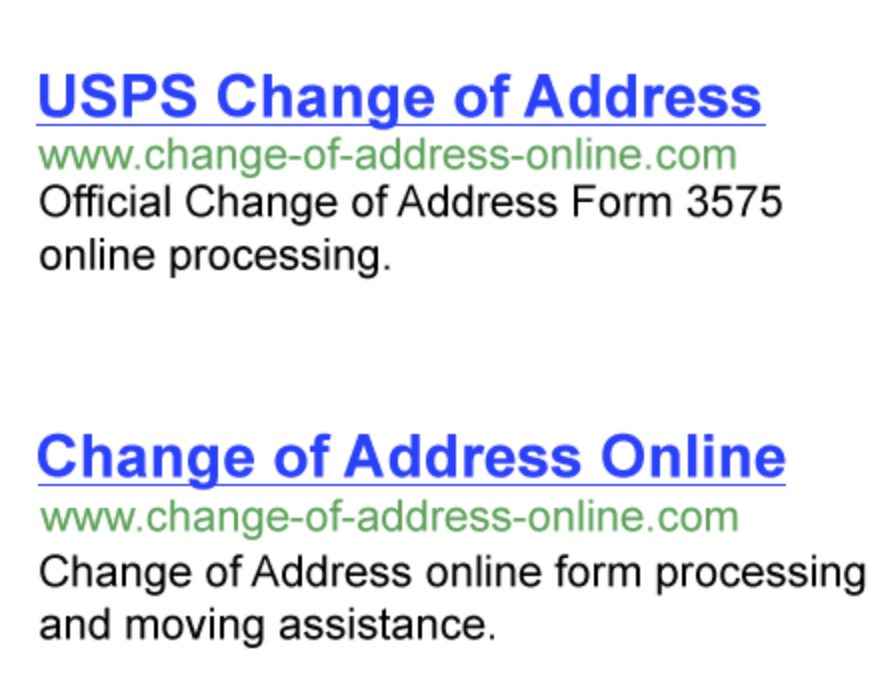 Post Office Change of Address Address post, Change your