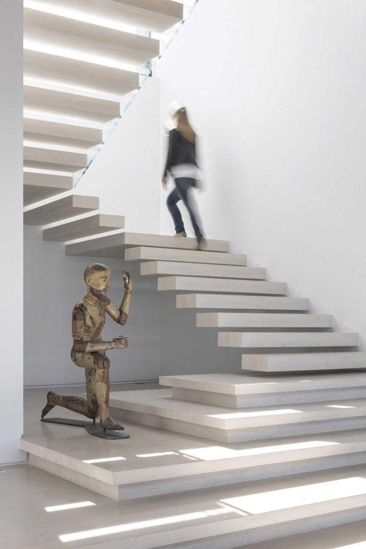 schwebende treppen aus sichtbeton f r modernen look
