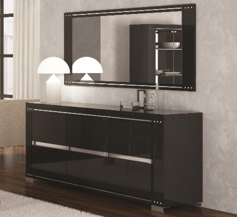 Very Stylish Armania Diamond Black High Gloss Sideboard Gloss