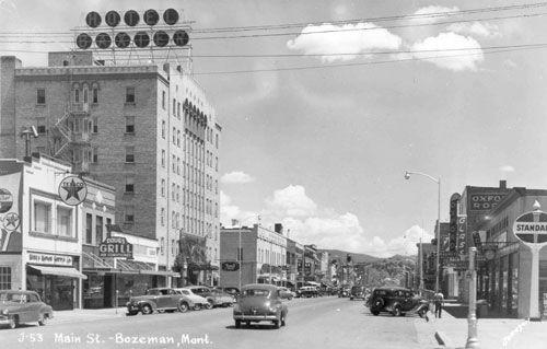 Downtown Bozeman Montana Hotel Baxter 1940 S