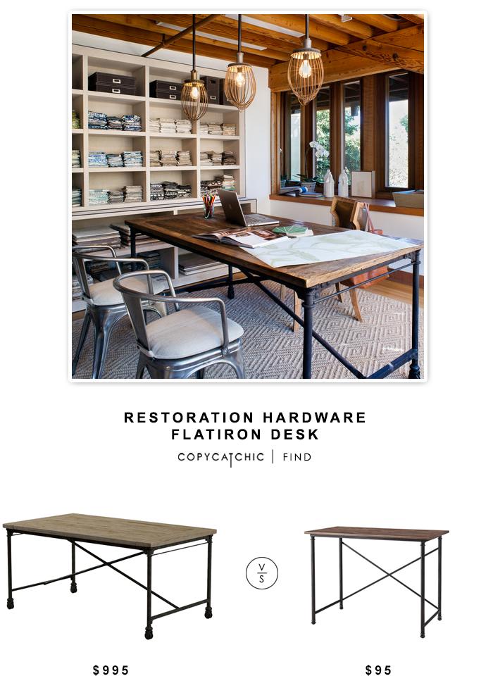 Restoration Hardware Flatiron Desk Restoration Hardware Restoration Hardware Office Restoration Hardware Lighting