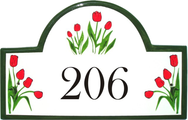 Classy Plaques Store - Tulip Flowers Address Signs and House Plaques, $139.00 (http://www.classyplaques.com/tulip-flowers-address-signs-and-house-plaques/)