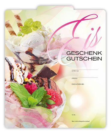 eisgutschein f r die gastronomie g2003 gastronomie geschenkgutscheine pinterest. Black Bedroom Furniture Sets. Home Design Ideas