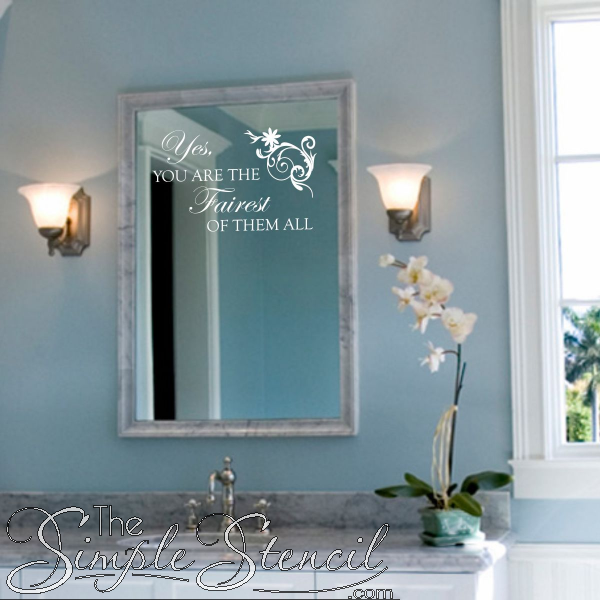 A Great Wall Quote Decal For Bathroom Mirror Or Vanity Any Princess