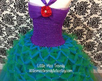 Vestido Inspirado En La Sirenita Difraz De Ninos En 2019
