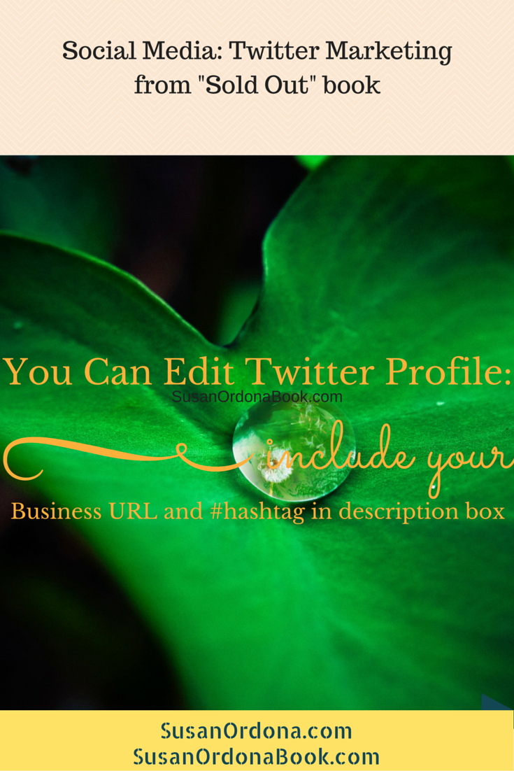 Marketing Tip: Editing Twitter Profile
