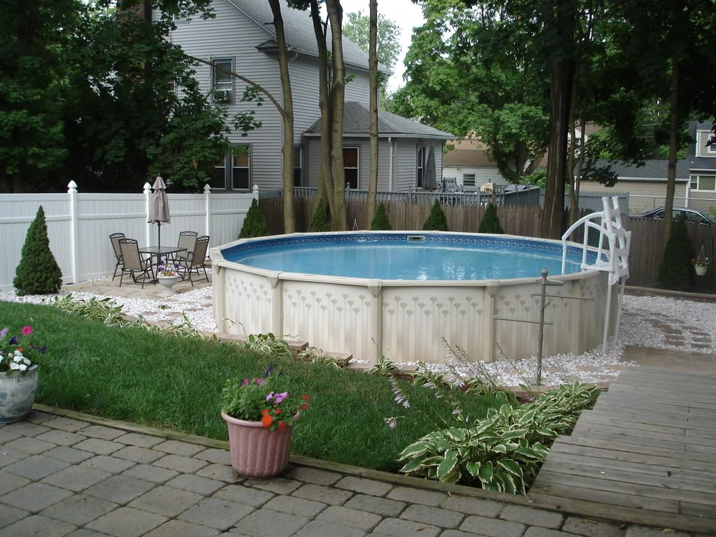 backyard oasis ideas above ground pool